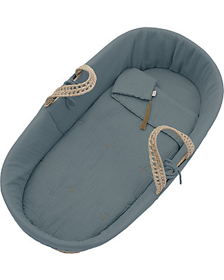 Numero 74 Moses Baby Basket - Ice Blue Cribs & Moses Baskets