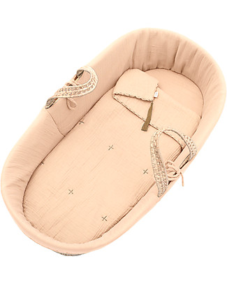 Numero 74 Moses Baby Basket - Pale Peach Cribs & Moses Baskets