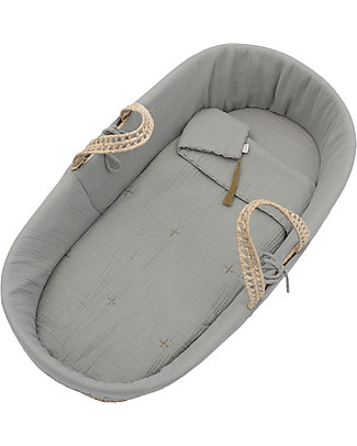 Numero 74 Moses Baby Basket - Silver Grey Cribs & Moses Baskets