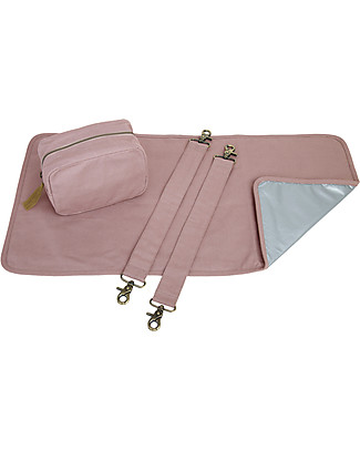 Numero 74 Multi Bag Baby Kit, Dusty Pink - Organic cotton Travel Changing Mats