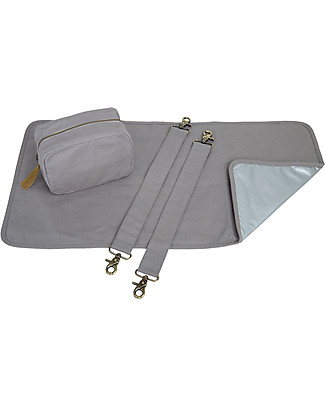 Numero 74 Multi Bag Baby Kit, Stone Grey - Organic cotton Travel Changing Mats