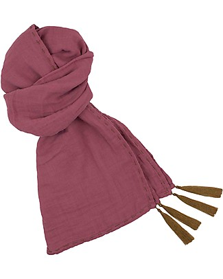 Numero 74 Mum Scarf, Baobab Rose - 100% Muslin Cotton Scarves And Shawls