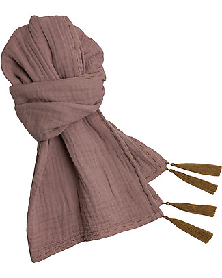 Numero 74 Mum Scarf, Dusty Pink – 100% Muslin Cotton Scarves And Shawls