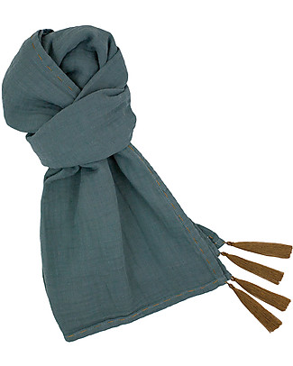 Numero 74 Mum Scarf, Ice Blue – 100% Muslin Cotton Scarves And Shawls