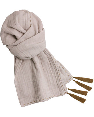 Numero 74 Mum Scarf, Powder - 100% Muslin Cotton Scarves And Shawls