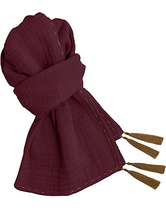 Numero 74 Mum Scarf, Red Macaron – 100% Muslin Cotton Scarves And Shawls