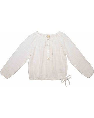 Numero 74 Naia Kid Shirt, Natural - Size L (5-6 years) - 100% cotton double saloo Shirts And Blouses