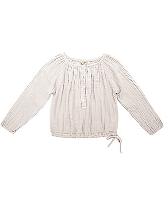 Numero 74 Naia Kid Shirt, Powder - Size L (5-6 years) - 100% cotton double saloo Shirts And Blouses