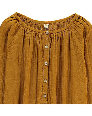 Numero 74 Naia Mum Shirt with Long Sleeves, Gold - 100% cotton Shirts And Blouses