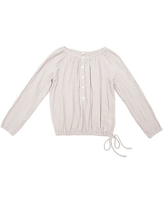 Numero 74 Naia Mum Shirt with Long Sleeves, Powder - 100% cotton Evening Tops