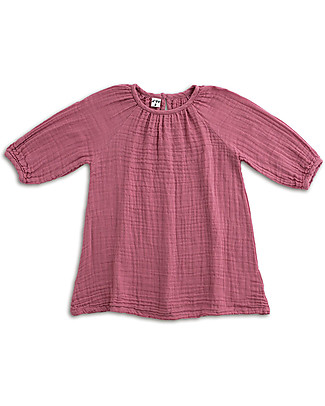 Numero 74 Nina Girl Dress, Baobab Rose - Cotton Muslin Dresses