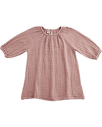 Numero 74 Nina Girl Dress, Dusty Pink (5-6 years) - Cotton Double Saloo Dresses