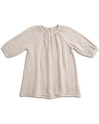 Numero 74 Nina Girl Dress, Powder (3-4 years) - Cotton Double Saloo Dresses