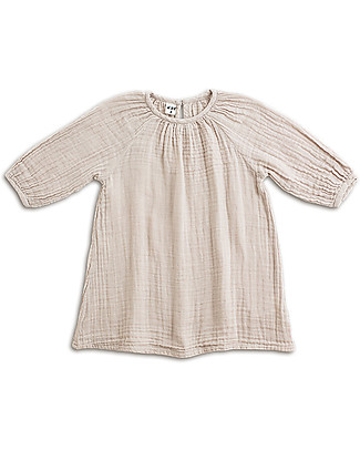 Numero 74 Nina Girl Dress, Powder (5-6 years) - Cotton Double Saloo Dresses