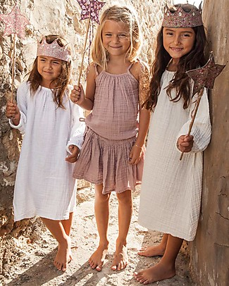 Numero 74 Nina Girl Dress - White - Cotton Muslin Dresses