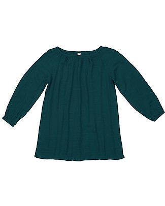 Numero 74 Nina Mum Tunic - Teal Blue - 100% Muslin Cotton Dresses