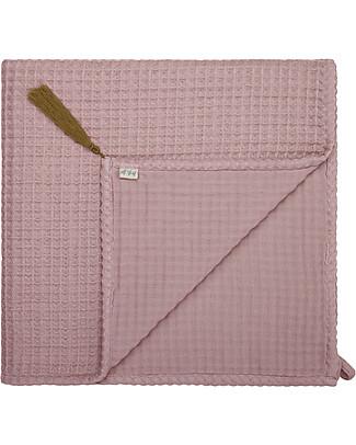 Numero 74 Organic Cotton Waffle Bath Towel, Dusty Pink - 50x90 cm Towels And Flannels
