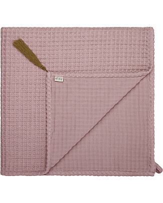 Numero 74 Organic Cotton Waffle Bath Towel, Dusty Pink - 70x140 cm null