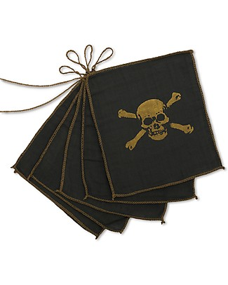 Numero 74 Pirate Garland - Dark Grey & Gold - 2.5 m Bunting