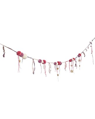 Numero 74 Pompom Garland - Mix Pink Bunting