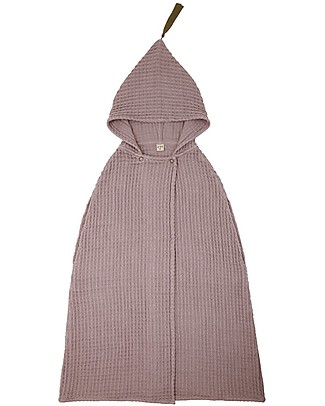 Numero 74 Poncho Towel, Dusty Pink - 3-5 Years - 100% organic cotton waffle Towels And Flannels