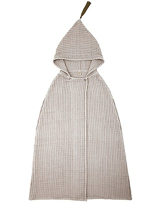 Numero 74 Poncho Towel, Powder - 3-5 Years - 100% organic cotton waffle Towels And Flannels
