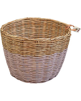 Numero 74 Rattan Storage Basket - Dusty Pink - Stylishly Safe Toy Storage Boxes