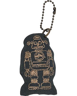 Numero 74 Robot Keychain - Dark Grey - Perfect Gift! null