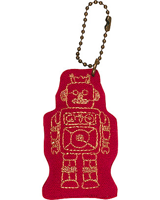 Numero 74 Robot Keychain - Ruby Red - Perfect Gift! Party Favours