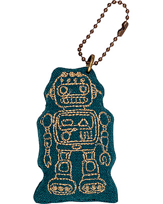 Numero 74 Robot Keychain - Teal Blue - Perfect Gift! null