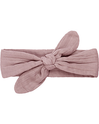 Numero 74 Romy Bow Headband, Dusty Pink Hair Accessories