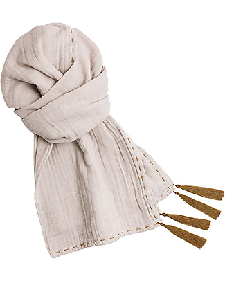 Numero 74 Scarf Kid, Powder - 100% organic cotton double saloo Scarves And Shawls