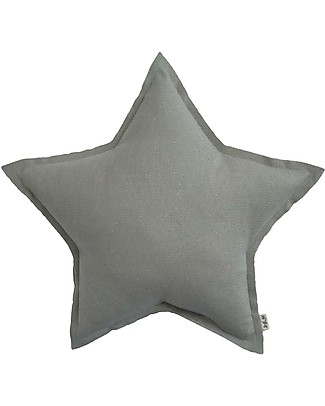 Numero 74 Sparkling Star Cushion, Small - Silver Grey null