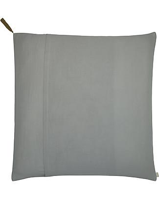 Numero 74 Square Pillow Case 65x65 cm, Silver Grey - 100% organic cotton Duvet Sets