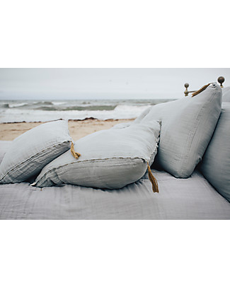 Numero 74 Square Pillow Case 65x65 cm, Stone Grey - 100% organic cotton Duvet Sets