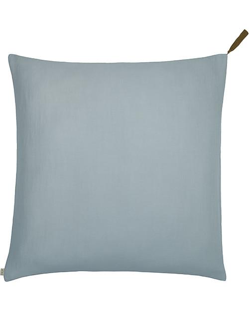 Cuscini Celesti.Numero 74 Square Pillow Case 65x65 Cm Sweet Blue 100 Organic