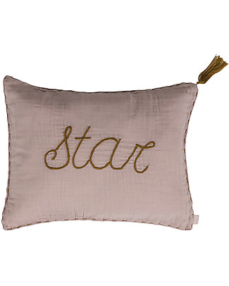 Numero 74 Star Cushion 30x40 cm - Powder with Gold Embroidery  Pillows