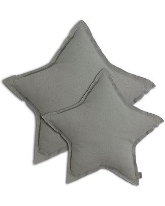 Numero 74 Star Cushion Medium - Silver Grey Cushions