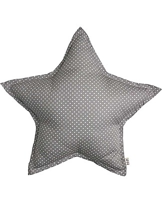 Numero 74 Star Cushion Small - Gray with White Dots Cushions