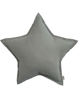 Numero 74 Star Cushion Small - Sparkling Silver Grey Cushions