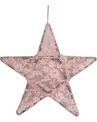Numero 74 Star Lantern Light Small 30 x 30 - Dusty Pink Lace - New Bohemian Collection Bedside Lamps