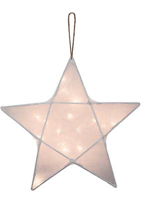 Numero 74 Star Lantern Light Small 30 x 30 - White - 100% Cotton Bedside Lamps
