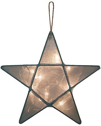 Numero 74 Star Lantern Small 30 x 30 cm - Ice Blue  - 100% Cotton Bedside Lamps
