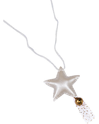 Numero 74 Star Necklace with Bell - Iridescent Cream - Perfect Party Favour or Stocking Filler! Party Favours