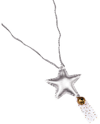 Numero 74 Star Necklace with Bell - Iridescent Silver - Perfect Party Favour or Stocking Filler! Party Favours
