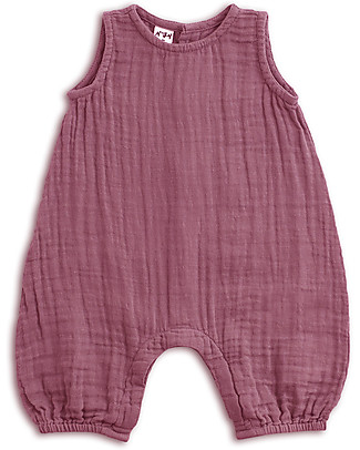 Numero 74 Stef Combi Baby One Piece, Baobab Rose - 100% cotton (9-12 months) Dungarees