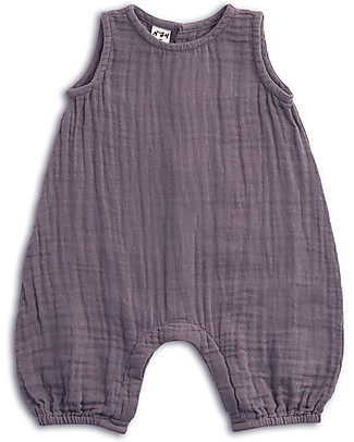 Numero 74 Stef Combi Baby One Piece, Dusty Lilac - 100% cotton (9-12 months) Dungarees