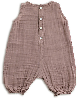 Numero 74 Stef Combi Baby One Piece, Dusty Pink - 100% cotton (9-12 months) Dungarees