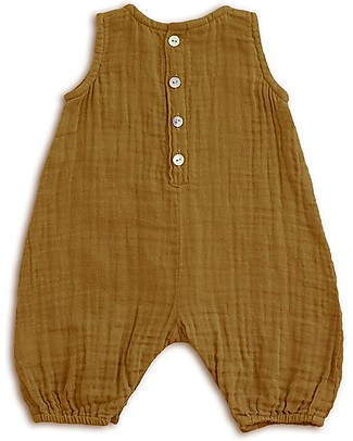 Numero 74 Stef Combi Baby One Piece, Gold - 100% cotton (1-2 years) Dungarees