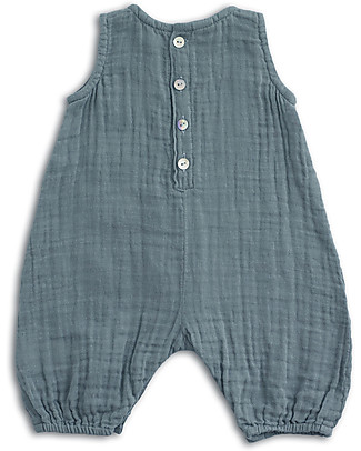 Numero 74 Stef Combi Baby One Piece, Ice Blue - 100% cotton (3-6 months) Dungarees